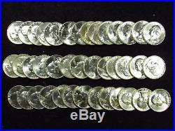1960-D Washington Quarter BU 40 Coin Full Roll #2