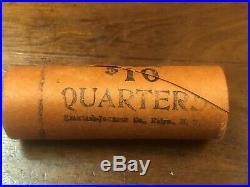 1960 P BU 90% Silver Washington Quarters in shotgun roll (40) quarters