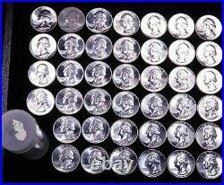 1960 Washington Silver Quarter Original Gem BU roll 40 coins White Superb #GE637