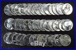 1960-p Washington Quarters Gem Bu 40 Coins Full Roll #10