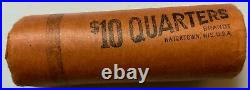 1962-D Original Bank Wrap OBW Roll 40 BU Uncirculated Silver Washington Quarters