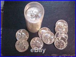 1962 Proof Washington Silver Quarter Roll/40 Gem Coins