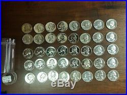 1962 Roll (40) Of U. S Proof Quarters 90% Silver