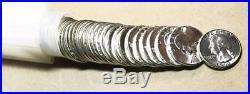 1962 Washington Quarter Gem Bu Roll (40) Coins 90% Silver #7057