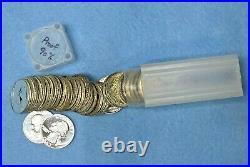 1962 Washington Quarters Proof Roll 40 Coins