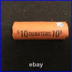 1963 P Unc. OBW $10 Roll Washington Quarter BU 90% Silver Original Bank Wrap