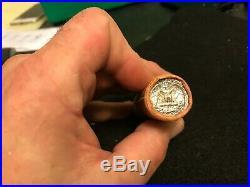 1963 P Uncirculated Roll Washington Quarter $10 BU 90% Silver Original Bank Roll
