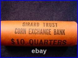 1963 Washington Quarter Girard Trust Corn Exchange Bank Roll 40 Bu Coins! #22