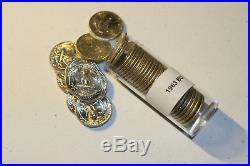 1963 Washington Quarters 90% Silver Uncirculated Full Roll
