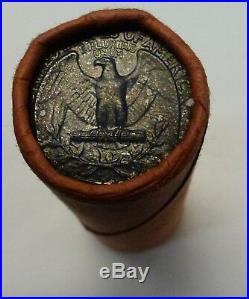 1963-p OBW Shotgun Roll of 40 90% Silver Quarters BU Coins TONED ENDS