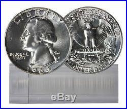 1964 BU Silver Washington Quarter Roll