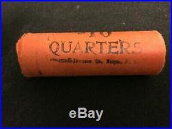 1964 D Unc. OBW $10 Roll Washington Quarter BU 90% Silver Original Bank Roll