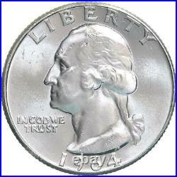1964 D Washington Quarter 90% Silver BU Roll 40 US Coin Lot