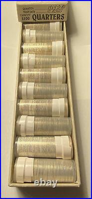 1964-D silver Washington Quarter 10 Uncirculated Rolls of 40 coins. $100 Face