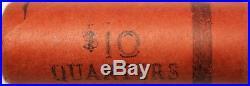 1964 P or D Washington Quarter BU OBW Roll American Silver Coins $10 Worth