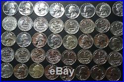 1964 Roll of 40 Washington Silver Quarters Proof Like Estate Sale