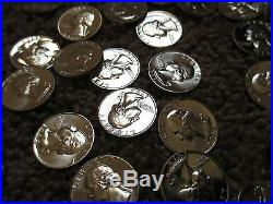 1964 Silver Washington Quarter Roll GEM PROOF/BEAUTIFUL COINS