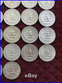 1964 Washington Quarter Roll (40) 90% Silver Coins