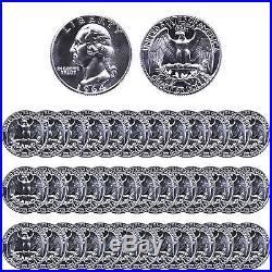 1964 Washington Quarter Roll 90% Silver Gem Proof 40 US Coins