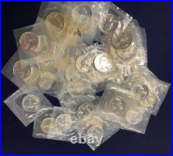 1964 Washington Silver Quarters Proof Roll of 40 Coins in US Mint Cello FREE S/H