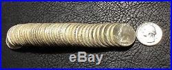 1964-p 40 Coin Roll Washington Silver Quarters Bu See Pics Inv#5852