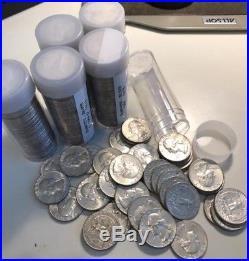 1964 washington quarters, 6 rolls of 40, 90% Silver