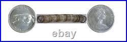 1967 Canada 25C. 800 Fine Silver Quarter 40 Coin Roll Proof Likes