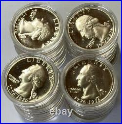 1976 S 40% Silver Washington Proof Quarters 20 Coins in Capsules ITEM #7