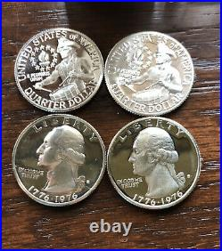 1976-S Silver PROOF Washington Quarters Uncirculated Roll of 40 Coins
