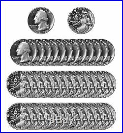 1976 -S Washington Quarter 40% Silver roll 40 US Coins DCAM Proof Bicentennial