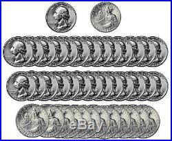 1976 -S Washington Quarter BU Bicentennial 40% Silver Roll 40 US coins