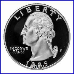 1992 1998 S Quarter Cameo Proof Roll 90% Silver (40 Coins) Random Mix