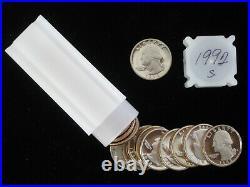 1992-S Proof Silver Washington Quarter 40pc Roll