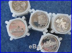 1999-2008-S Statehood Quarter Gem DCAM Silver Proof Roll Set of 50 Rolls of 40