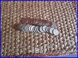 1 ROLL OF 40 90 % SILVER WASHINGTON QUARTERS GREAT INVESTMENT wrapped
