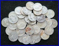 1 Roll $10 Face Value (40 Coins) Washington Quarter 90% Silver Item# 3983