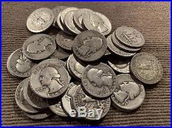 1 Roll (40) 1943-S D P Washington Quarters 90% silver Key Date G-VG