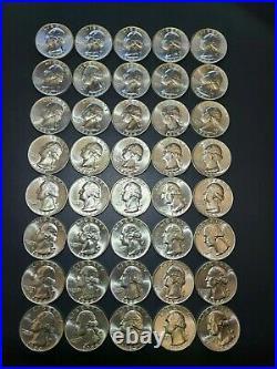 1 Roll (40) 1964 BU Washington Quarters 90% Silver UnCirculated (SILVER ROLL)$10