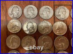 1 Roll (40) 90% SILVER Washington quarters 1932-1964 Quarters Circulated