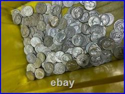 1 Roll (40) 90% SILVER Washington quarters 1932-1964 Quarters Circulated Lot 1