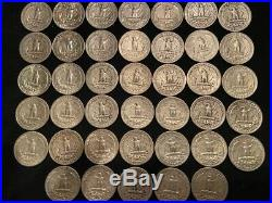 1 Roll (40) 90% Silver Washington Quarters (#05)