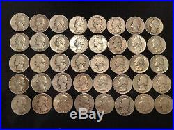 1 Roll (40) 90% Silver Washington Quarters (#12)