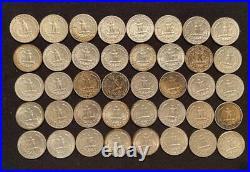 1 Roll (40) 90% Silver Washington Quarters (#17)