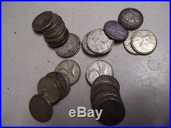 1 Roll (40) Canada 80% Silver Quarters, 1937-1966
