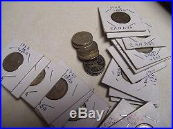 1 Roll (40) Canada 80% Silver Quarters, 1938-1966