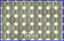 1 Roll (40 Coins) Washington Quarters, $10 Face, 90% Silver