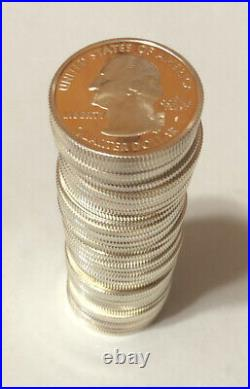 1 Roll (40) Proof 90% Silver State Quarters