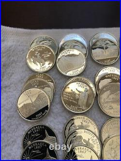 1 Roll 40 Quarters 90% Silver Proof Statehood Mixed Date Roll