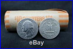 1 -Roll (40 coins) of Washington 90% Silver Quarters