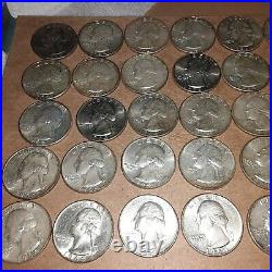(1) Roll Of 1964 Washington Silver Quarters, Very Nice Condition. 40 US Coins